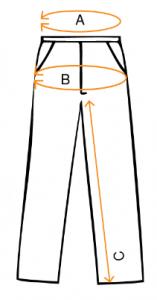 Ilustracija pantalona sa merema za marku Impulso